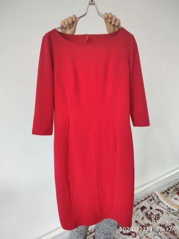 платье миди в Кыргызстан: Продаю новое платье миди качество хорошее .Плотный трикотаж,размер
