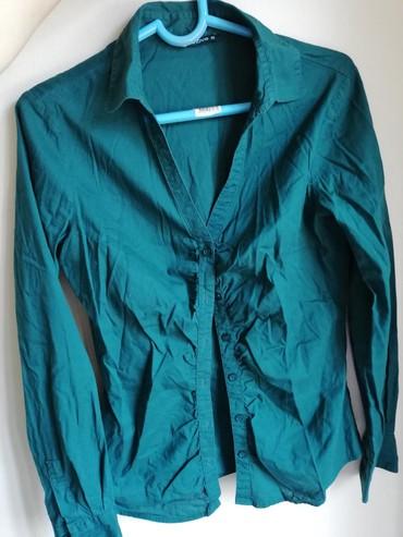 Košulja terranova veličina M. Maslinasto zelena boja. Nošena, bez - Nova Pazova