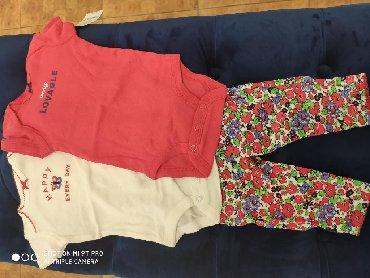 carters-набор в Кыргызстан: Комплект Carter's для девочки 3 мес из 2х боди и штанишек (сзади