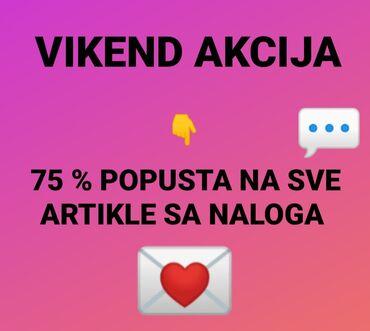 Torbez cena - Srbija: Vikend akcija75% popusta na sve artikle sa nalogacenu ispod oglasa
