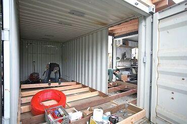 Оборудую контейнер под магазин-потолки, полы, и стены - делаю