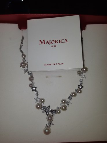 Bakı şəhərində Pearl necklace from Majorica. Wedding edition. New.