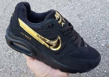 Sivo odelo - Srbija: Crne Nike Air Max sa zlatnim znakom, jos u brojevima 36 i 40 :) svi zn