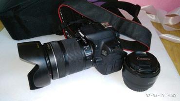 canon-efs-18-135mm в Кыргызстан: Canon 650d в отличном состоянии с двумя объективами EFS 18-135mm и EF