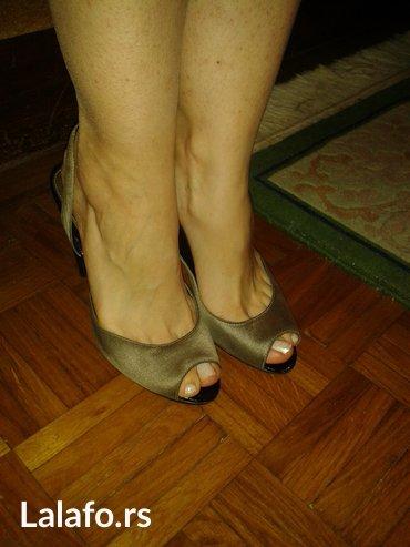 Zara srebrne satenske svecane sandale, svega nekoliko puta nosene, - Novi Sad