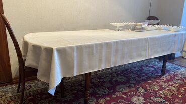т т к н 2 класс в Кыргызстан: Стол с 8 стульями  Длина и высота стола регулируются!  Длина 2, 65 м.