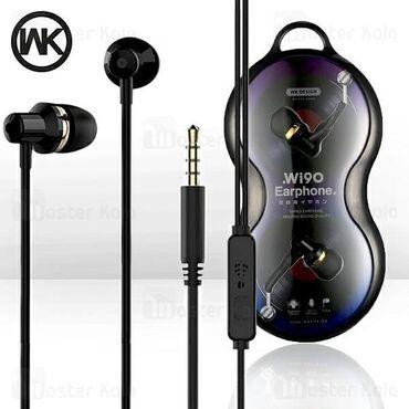 Wi90 earphone black qulaqlıqlar