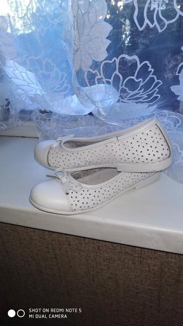 Кожаные очень мягкие туфли на девочку в Бишкек