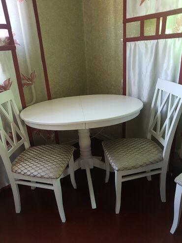 гос закупки бишкек в Кыргызстан: Стол раздвижной в собранном виде 145×80 + 4стула. Комплект.Почти