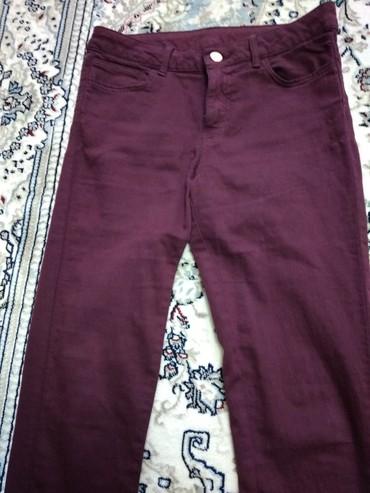 Продаю джинсы цвета марсала в отличном состоянии в Бишкек