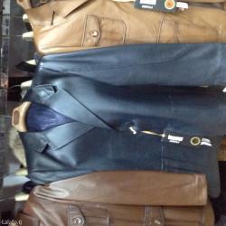 Пиджак Коженный тёмно синего цвета привезли с Турций размером не в Душанбе