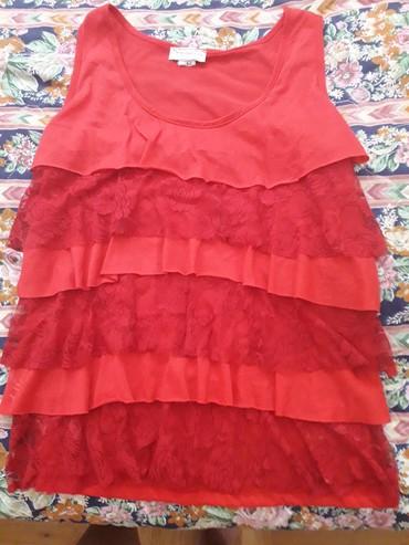 Ženska odeća | Pozarevac: Crvena majca, pamuk, cipka, izuzetnog kvaliteta, doneta iz Amerike