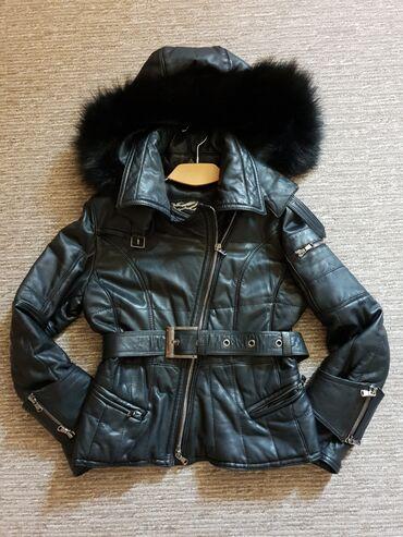 Kozne jakne - Srbija: Zenska kozna jakna, Pravo krzno, nova Fiksna cena