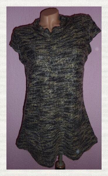 Haljina-madam-rage - Srbija: RAGE Sivi Prsluk Tunikaširina ramena 40cmširina ispod pazuha