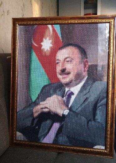 Ev üçün dekor - Azərbaycan: Алмазная мозаика.Эксклюзивный портрет.Размеры 45х60. Общее количество