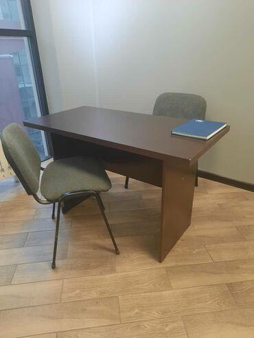 Продается офисный стол, стулья, выдвижной шкафчик