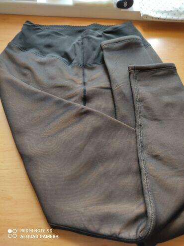 Лосины женские, б/у, под юбку, эффект колготок, верх капрон-внутри