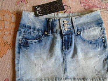 Jakna-otankog-teksasa-sa-likrom - Srbija: Nova, sa etiketom, mini suknjica od teksasa, veličine xs