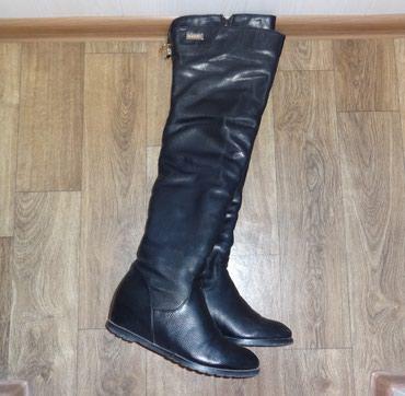 Продаю кожаные сапоги-ботфорты размер в Бишкек