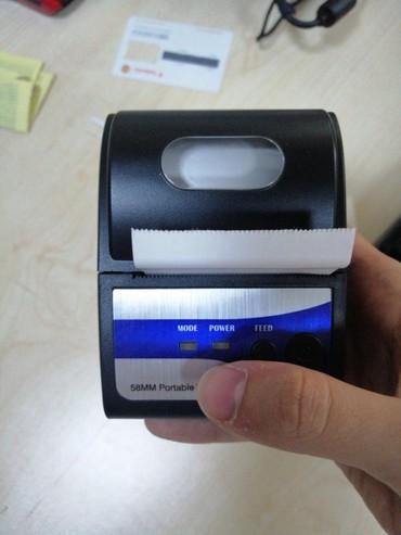 Biznes xidmətləri Bakıda: Yeni 58mm mobil çek printer, Bluetoothla da işləyir + illik rəsmi