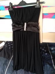 Crni top - Srbija: Crna top balon haljina, prelepa,veličina S/36,kao nova