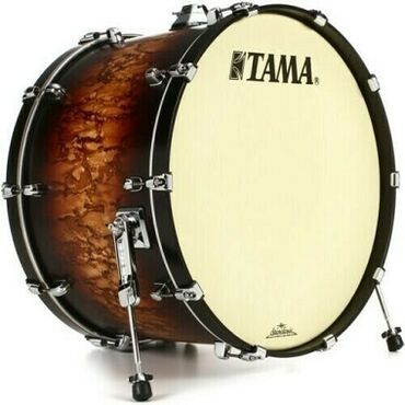 Μουσικά όργανα - Ελλαδα: Tama Starclassic Maple Bass Drum - 18 - 24 Satin Molten Brown Burst