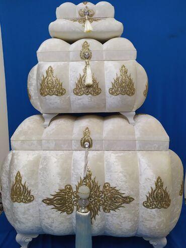 Элитные сундуки на приданое и корзины- себет для торжеств