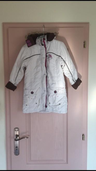 Dečije jakne i kaputi | Indija: Duga zimska jakna vel.122(5-7god) Sa toplim braon umetkom koji se po