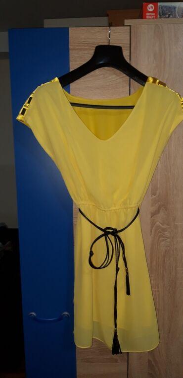 Zuta haljina,tanana,lepo stoji,vel S ili br 36