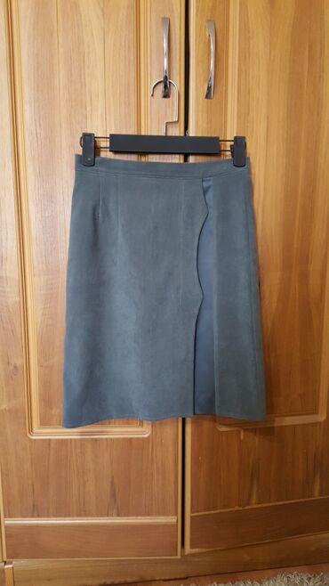 Мини юбка замш размер М 44-46
