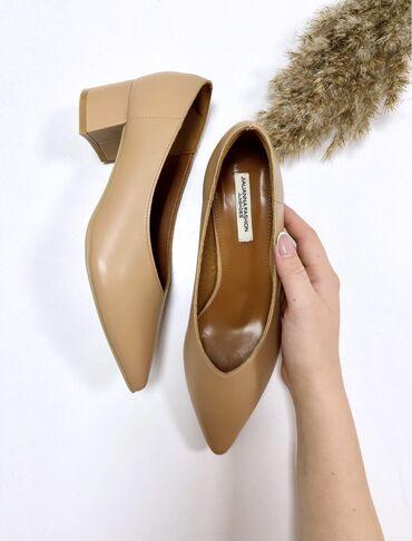 Очень удобные туфли из кожи. Каблук 5 см