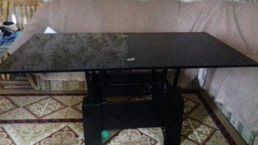 стол трансформер чёрного цвета в Кыргызстан: Продаю стол трансформер 0.90×1.70