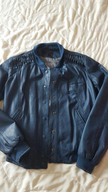 GUESS nova kozna jakna, vel m, boja teget fenomenalno ide uz dzins, ni - Nis