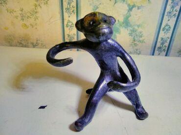 Винтажная железная обезьянка ссср