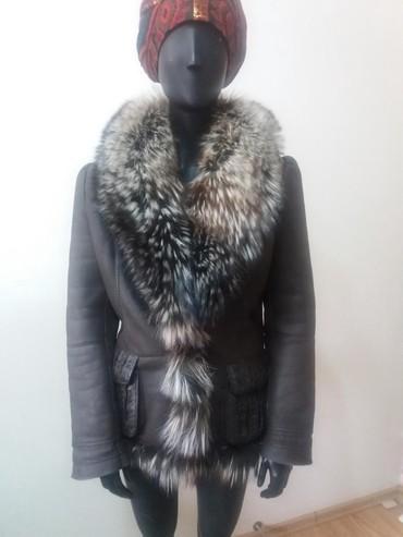 Шубы в Кыргызстан: Дубленка женская размер 50-52 в хорошем состояние б/у . Воротник