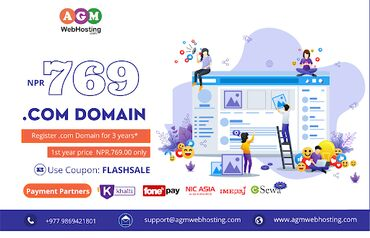 Cheapest Domain Registration Services-AGM Web Hosting (FLASHSALE)Flash