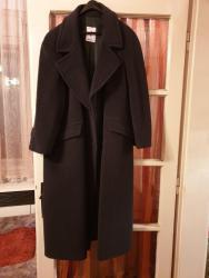 Muška odeća | Sremska Mitrovica: Muški dugački kaput, veličina 46. Boja tamno siva. Kao nov. Bez