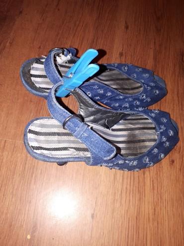 SNIZENA CENA Teksas sandale polovne, velicina 38, visina stikle 7 cm - Belgrade