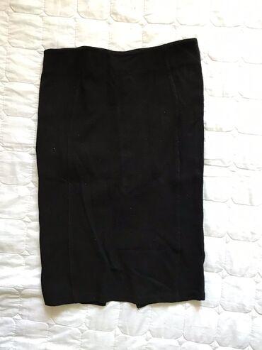 Трикотажная юбка zara, тянется состояние хорошее