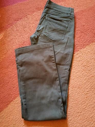 Pantalone-boja - Srbija: Smeđe Katrin pantalone, nošene, bez oštećenja, boja mslčice bleđa