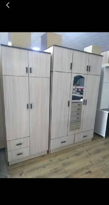 шкаф двухдверный в Кыргызстан: Новые шкафы из российского ламината Двухдверные-5500 Трехдверные-7500