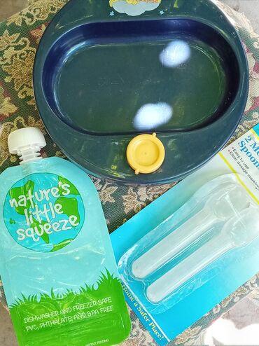 Помощники для мамы.поднос для антилстывания еды б/у,пакет-контейр для