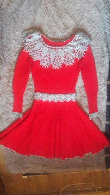 Платье размер 46, шерсть. В отличном состоянии! Воротник сьемный. в Кара-Балта