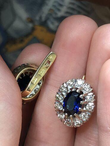 Проба 750Вес 8,40Камни чистыебелые Золотые серьги с бриллиантами