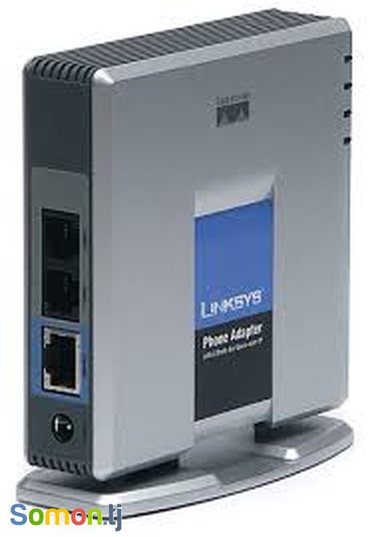 Linksys cisco phone adapter with 2 ports for voice-over-ip. в Душанбе