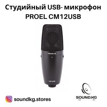 часы juicy couture в Кыргызстан: Микрофон usb- студийный - proel cm12 usb - в наличии!!!  Частотная хар