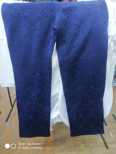 Продаю женские брюки с начёсом материал Джакард темно синий размеры 6