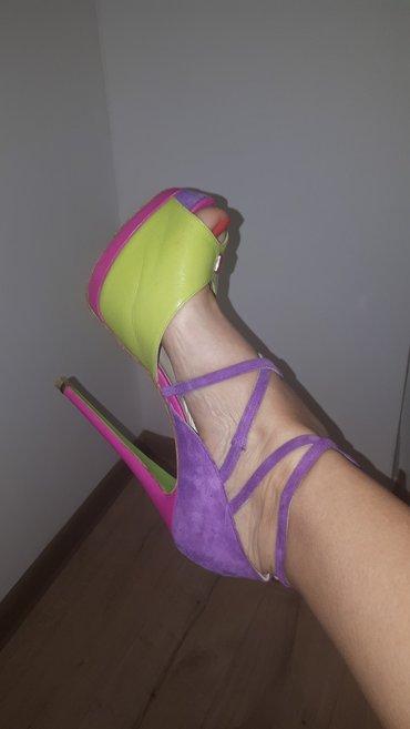 Wagoon shoes cipele broj 39 stikla 15cm platforma napred 4cm nosene - Indija