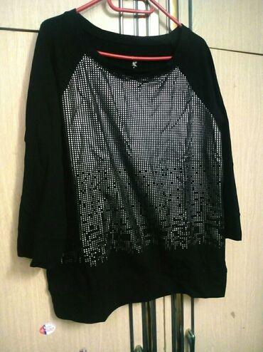 Nova kvalitetna pamucna elegantna crna bluzica XL velicine