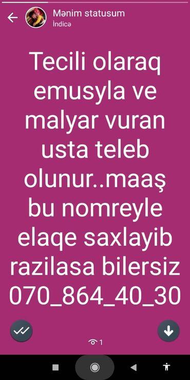 bu şalvar - Azərbaycan: Suvaq ustası. 1 ildən az təcrübə. Natamam iş günü